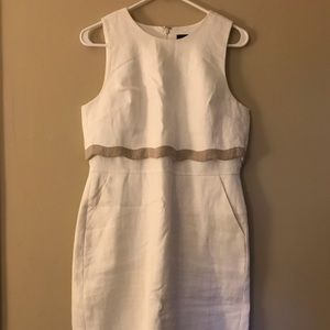 🎊HOST PICK🎊 NWOT J. Crew Fitted White Tier Dress